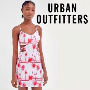 🌴UO Exclusive Tidal Waves cut out mini dress🌴